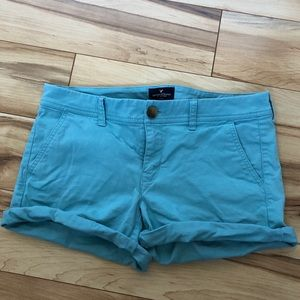 American Eagle Light Blue Shorts